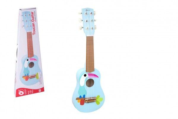 Teddies Dřevěná kytara s trsátkem, 52 cm