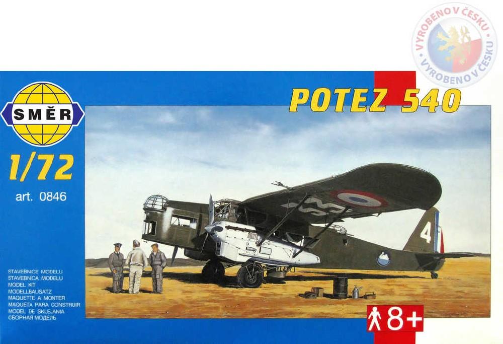 SMĚR Model letadlo Potez 540 1:72 (stavebnice letadla)