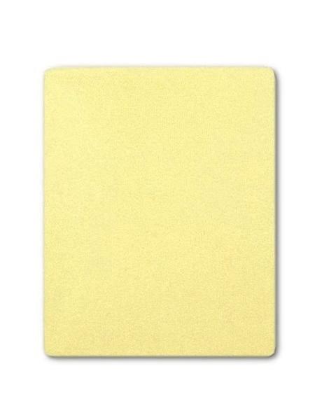 Froté prostěradlo Akuku 120x60 - žlutá
