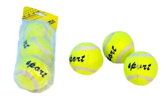Míčky tenisové set 3 ks v sáčku (míček na tenis)