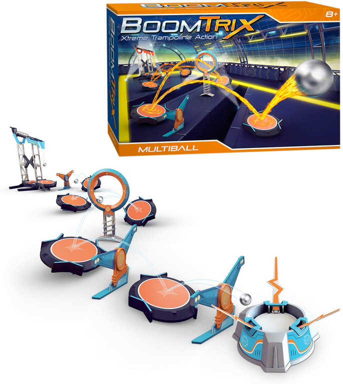 ADC BoomTrix Multiball kuličková dráha set stavebnice 8 kuliček s doplňky