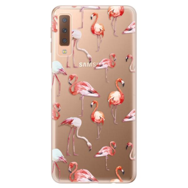 Odolné silikonové pouzdro iSaprio - Flami Pattern 01 - Samsung Galaxy A7 (2018)