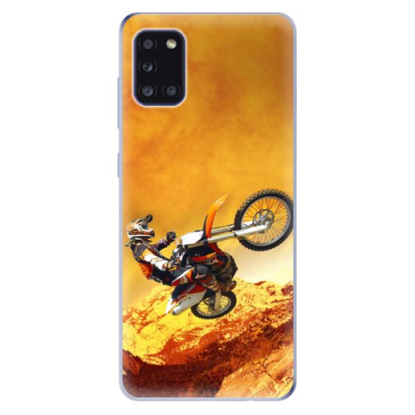 Odolné silikonové pouzdro iSaprio - Motocross - Samsung Galaxy A31