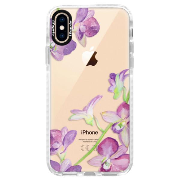 Silikonové pouzdro Bumper iSaprio - Purple Orchid - iPhone XS