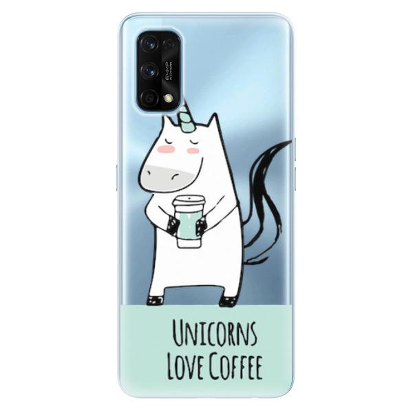 Odolné silikonové pouzdro iSaprio - Unicorns Love Coffee - Realme 7 Pro