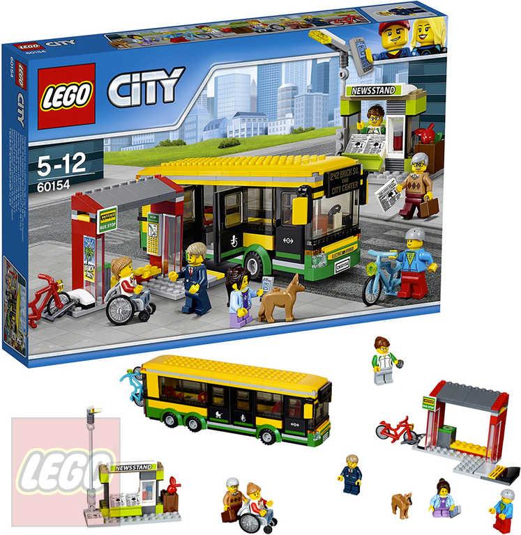 LEGO CITY Zastávka autobusu 60154 STAVEBNICE