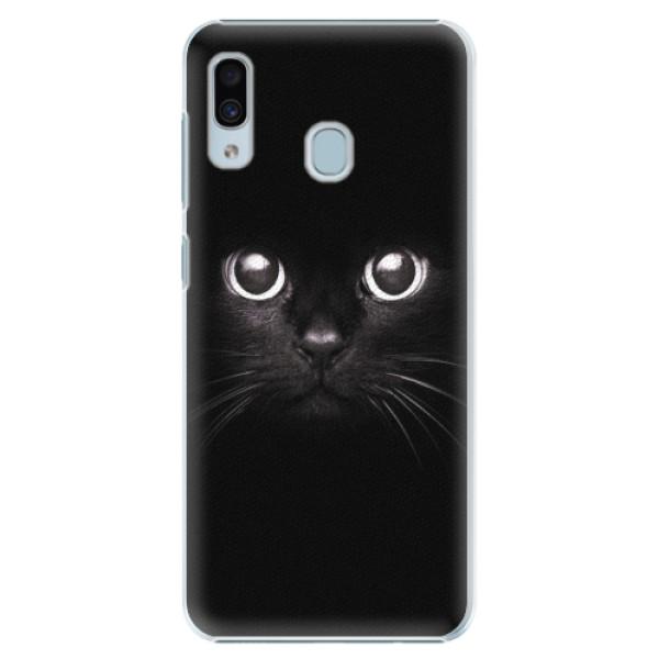 Plastové pouzdro iSaprio - Black Cat - Samsung Galaxy A20