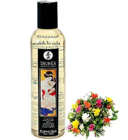 Erotický masážní olej Shunga Euphoria Floral 250ml
