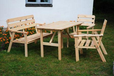 Zahradní dřevěný set NORDIC FSC