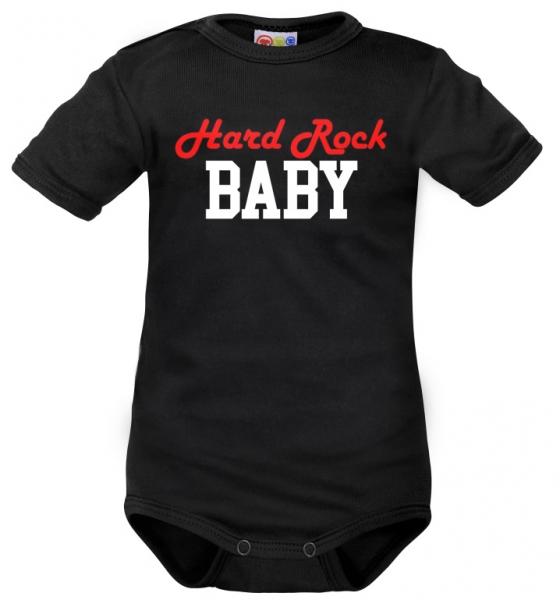 body-kratky-rukav-dejna-hard-rock-baby-cerne-62-2-3m