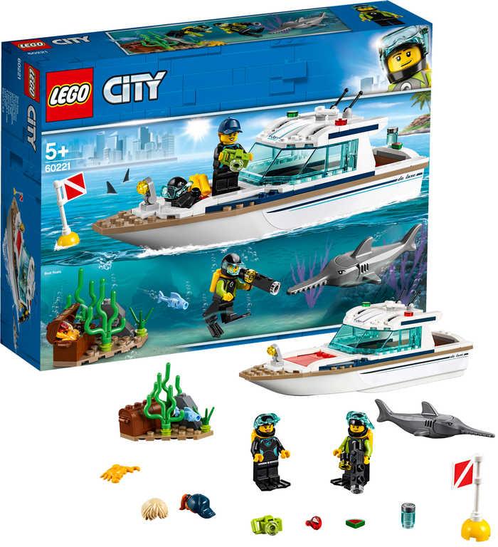 LEGO CITY Potápěčská jachta 60221