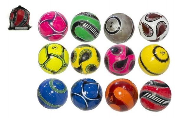 mic-fotbalovy-s-pumpickou-22cm-dunlop-vel-5-sita-kuze-asst-mix-barev-v-sitce