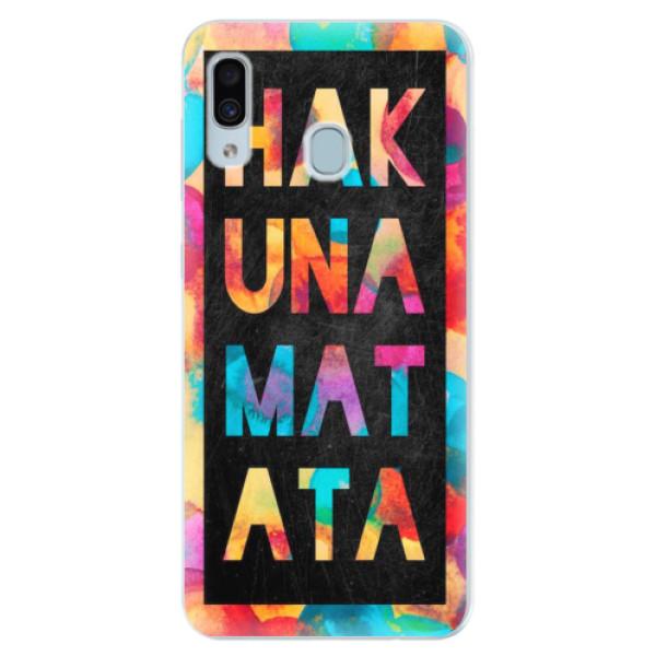 Silikonové pouzdro iSaprio - Hakuna Matata 01 - Samsung Galaxy A30