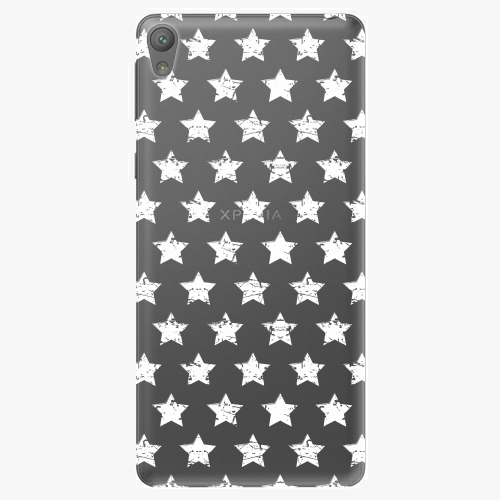 Plastový kryt iSaprio - Stars Pattern - white - Sony Xperia E5