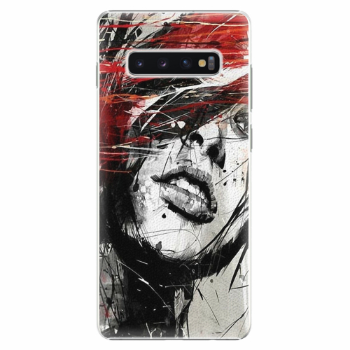 Plastový kryt iSaprio - Sketch Face - Samsung Galaxy S10+