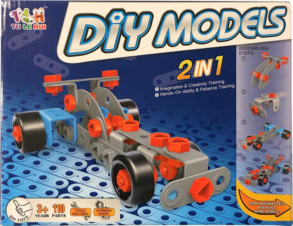 Malý Mechanik sportovní auto 2v1 šroubovací STAVEBNICE s nástroji