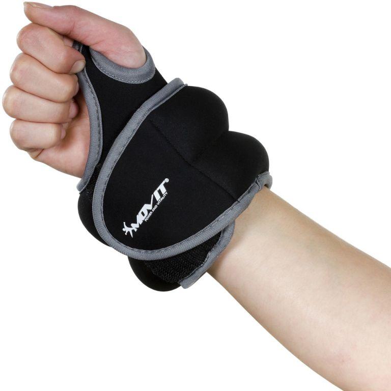 MOVIT neoprenová kondiční zátěž 1,0 kg, černá