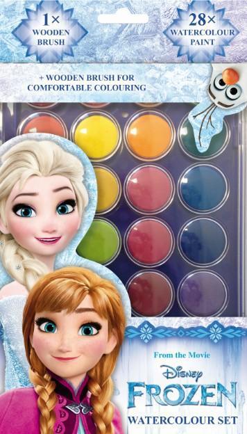 JIRI MODELS Vodovky Frozen (Ledové Království) 28 barev se štětcem