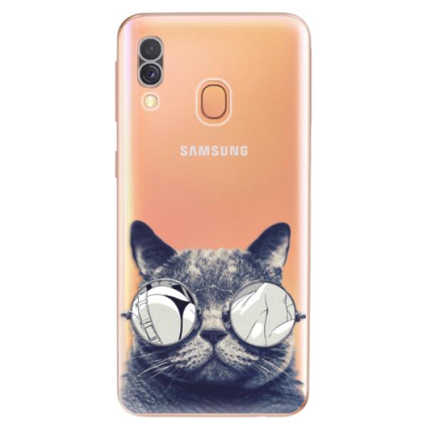 Odolné silikonové pouzdro iSaprio - Crazy Cat 01 - Samsung Galaxy A40