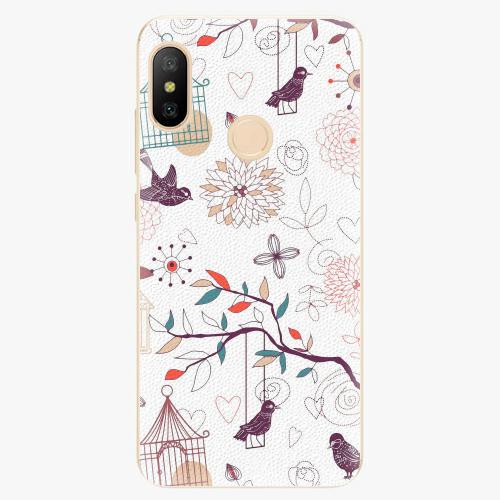 Silikonové pouzdro iSaprio - Birds - Xiaomi Mi A2 Lite
