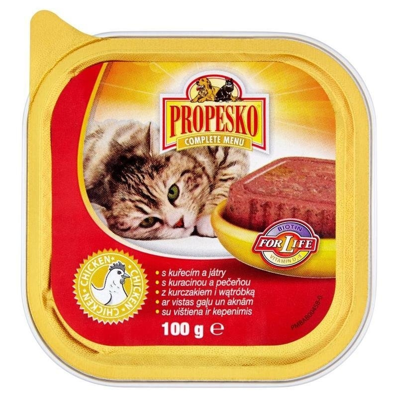 Vanička s kuřecím a játry kompletní krmivo pro dospělé kočky 100 g