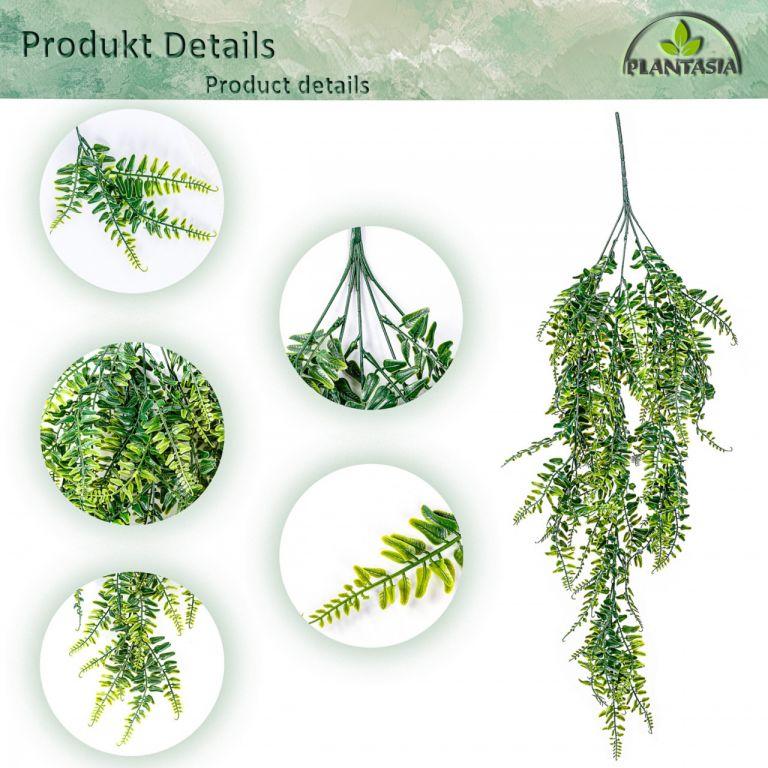PLANTASIA Sada umělé závěsné rostliny, 120 cm, 2 ks