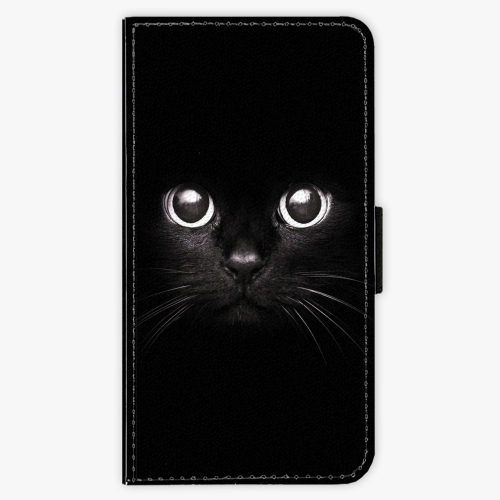Flipové pouzdro iSaprio - Black Cat - Samsung Galaxy J5