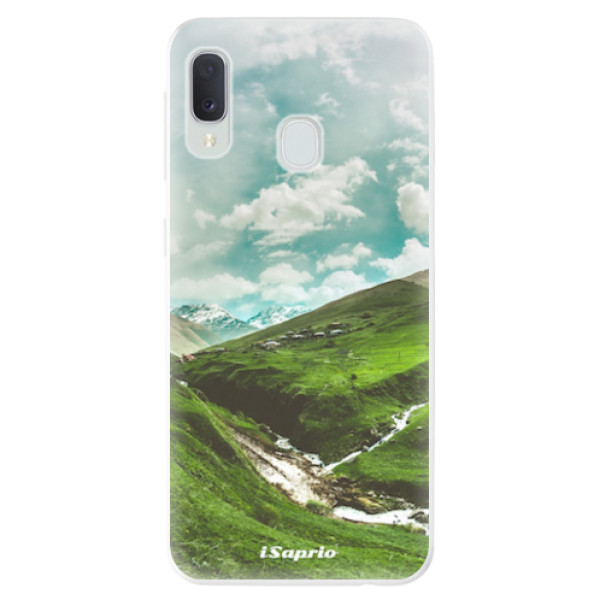 Odolné silikonové pouzdro iSaprio - Green Valley - Samsung Galaxy A20e