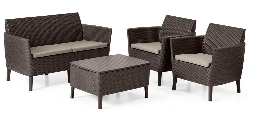 SALEMO dvoumístná sofa - hnědá