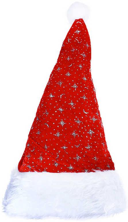 KARNEVAL Čepice vánoční střibrné hvězdy KARNEVALOVÝ DOPLNĚK