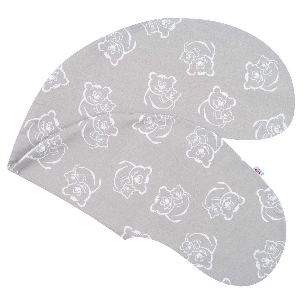 Povlak na kojící polštář - New Baby Medvídci šedý - šedá
