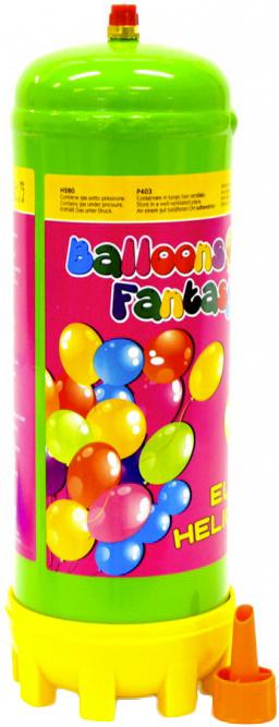 Helium 2,2l jednorázové na plnění nafukovacích balonků plynová láhev set s násadou