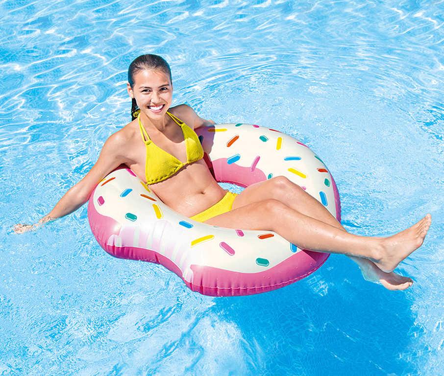 INTEX Kruh plavací donut růžový 107cm nafukovací dětské kolo do vody 56265