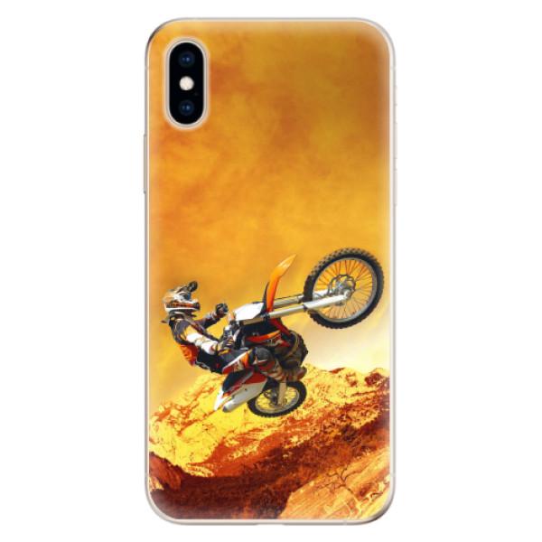 Odolné silikonové pouzdro iSaprio - Motocross - iPhone XS