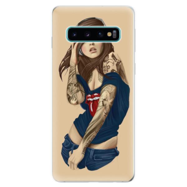 Odolné silikonové pouzdro iSaprio - Girl 03 - Samsung Galaxy S10