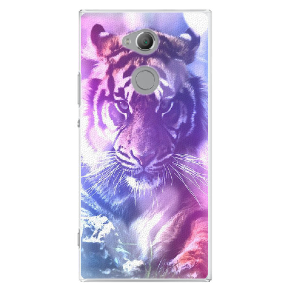 Plastové pouzdro iSaprio - Purple Tiger - Sony Xperia XA2 Ultra
