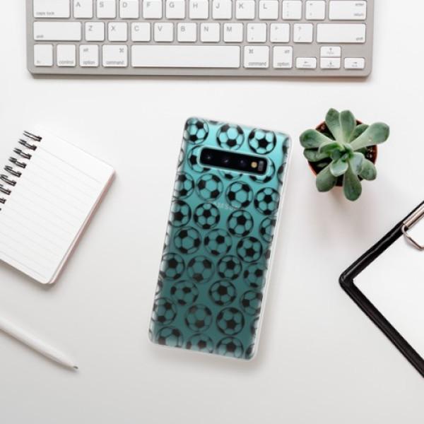 Odolné silikonové pouzdro iSaprio - Football pattern - black - Samsung Galaxy S10