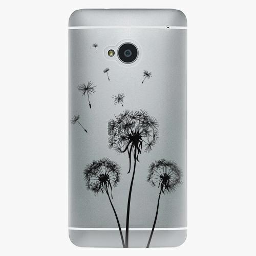 Plastový kryt iSaprio - Three Dandelions - black - HTC One M7