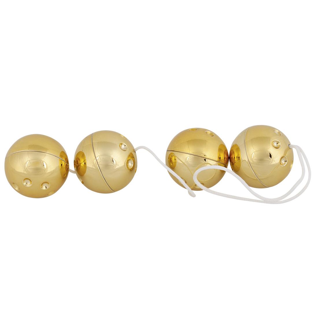 4 zlaté kuličky na šňůrce