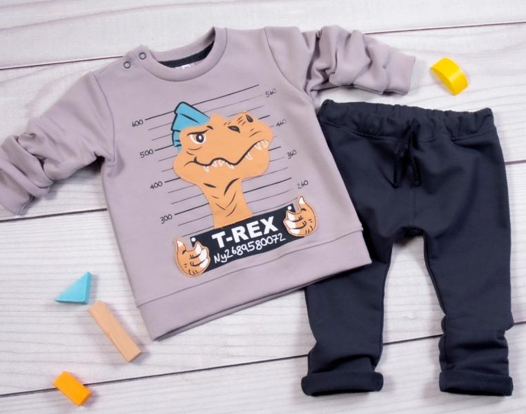 k-baby-teplakova-souprava-t-rex-seda-granat-80-9-12m