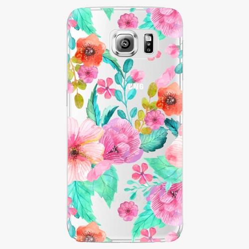 Plastový kryt iSaprio - Flower Pattern 01 - Samsung Galaxy S6 Edge Plus
