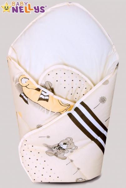 Novorozenecká zavinovačka, 75x75cm - Snílek - béžový - Klasické