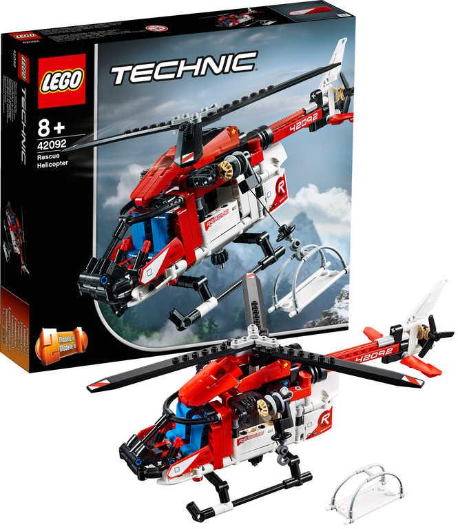 LEGO TECHNIC Záchranářský vrtulník 42092 STAVEBNICE