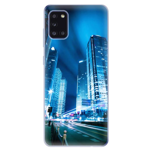 Odolné silikonové pouzdro iSaprio - Night City Blue - Samsung Galaxy A31
