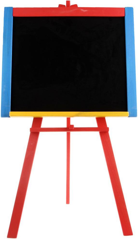 DŘEVO Tabule dětská kreslicí na křídy stojanová velká áčko barevná