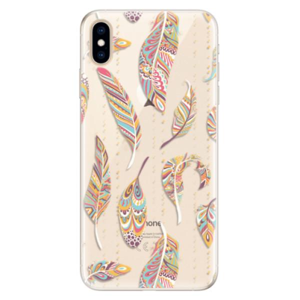 Silikonové pouzdro iSaprio - Feather pattern 02 - iPhone XS Max