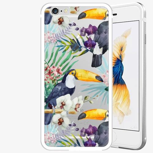 Plastový kryt iSaprio - Tucan Pattern 01 - iPhone 6 Plus/6S Plus - Silver