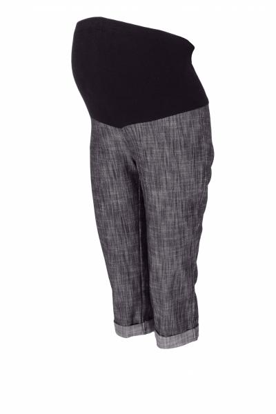 be-maamaa-tehotenske-3-4-kalhoty-s-elastickym-pasem-cerne-melirovane-vel-xxxl-xxxl-46
