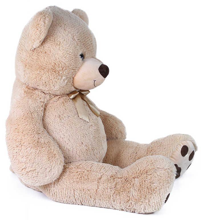 PLYŠ Medvěd Luďa 120cm béžový s mašličkou s věnováním *PLYŠOVÉ HRAČKY*