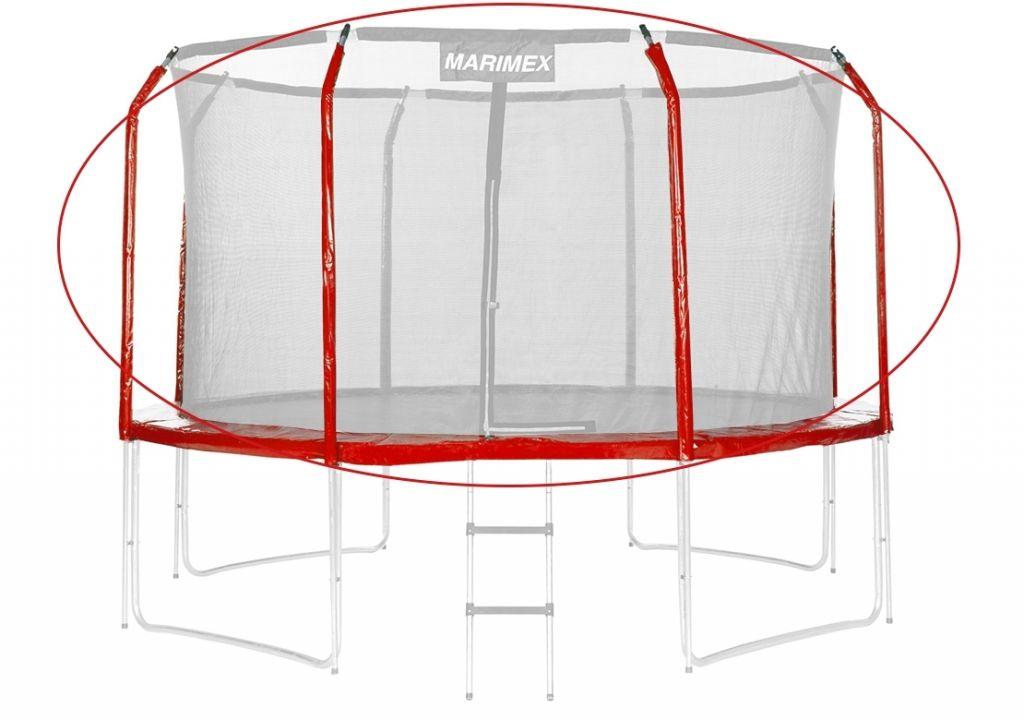 Sada krytů pružin a rukávů na trampolínu - červená, 305 cm
